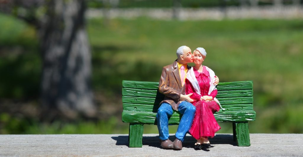 an old couple on the bench