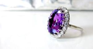 items NJ movers won't move - amethyst ring