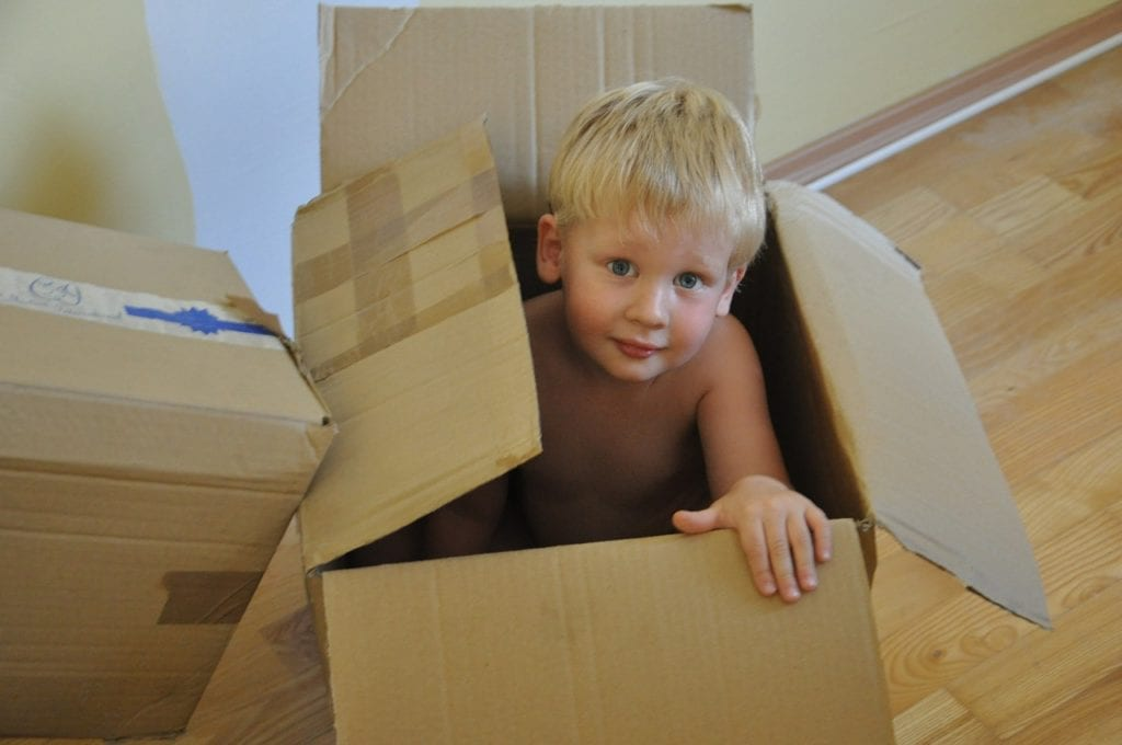 a child in the box