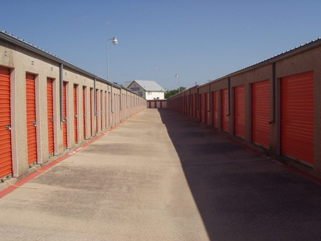 a storage facility in the open