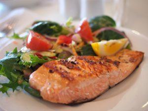 Salmon in a restaurant