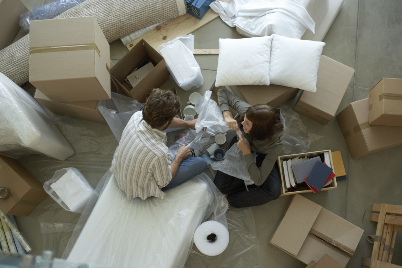 a couple preparing to move, representing movers Butler NJ