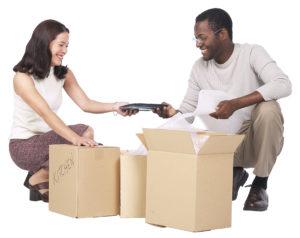 a couple moving