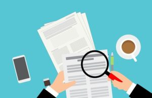Magnifying glass and moving documents