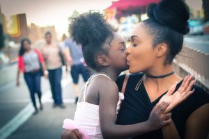 A mom and a girl in one of the best suburbs to raise a family in New Jersey