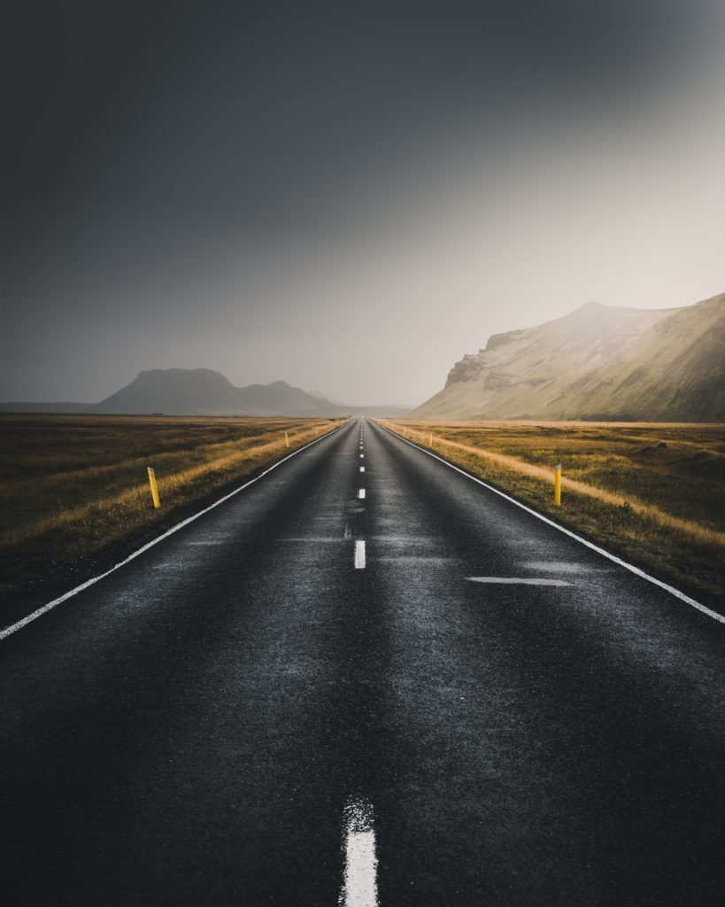 a straight road
