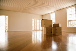 -moving boxes in a empty room