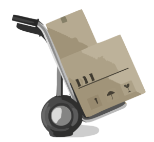 -illustration of moving boxes