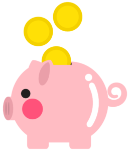 -illustration of a piggy bank