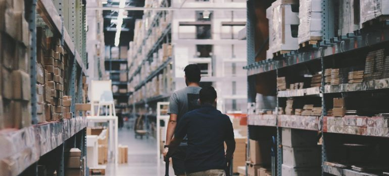Storage workers working in a warehouse