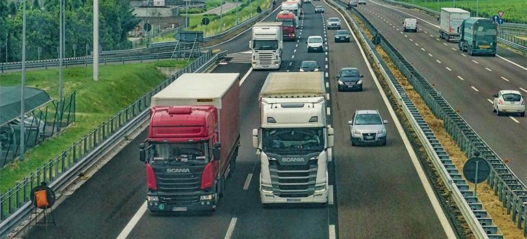 Hudson County movers' trucks