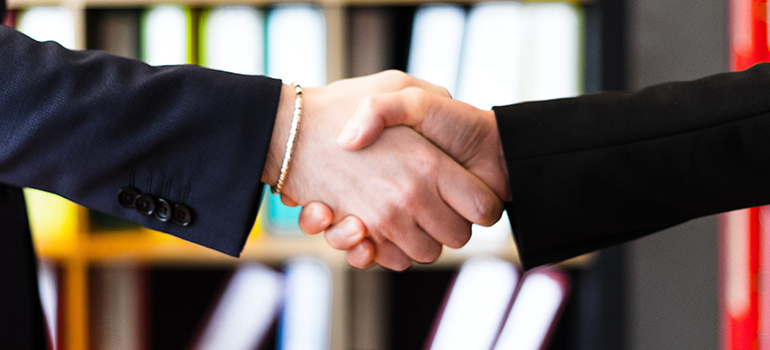 Handshake with Raritan Township Movers