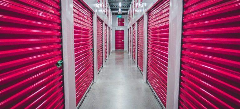 Red shutter doors