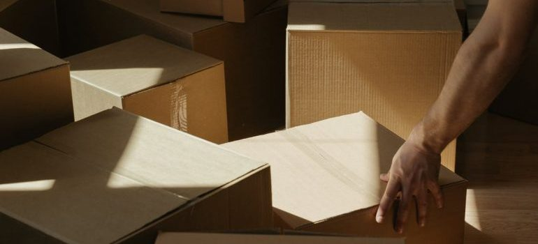 Some cardboard boxes Perth Amboy movers will relocate.