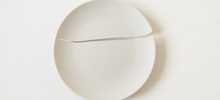 A broken plate.