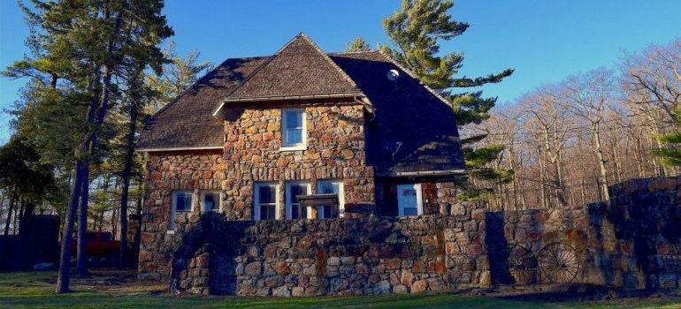A stone house.
