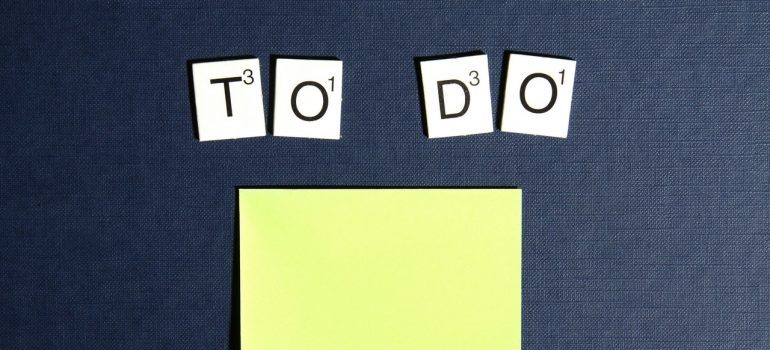 Ocean Township Movers can help you come up with a to do list such as this one