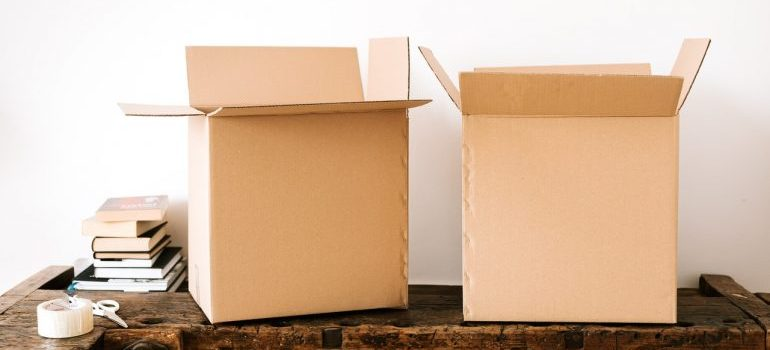 Nutley Movers can supply your with cardboard boxes such as these