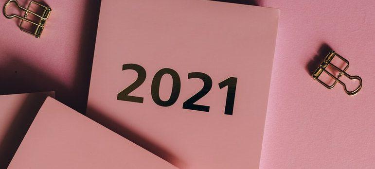 A pink calendar