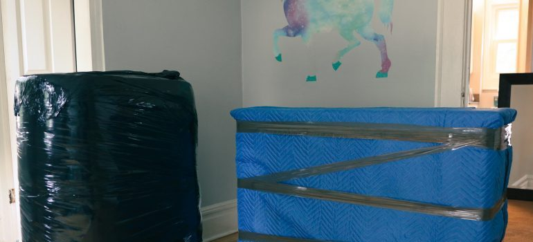 packed items in a children's room