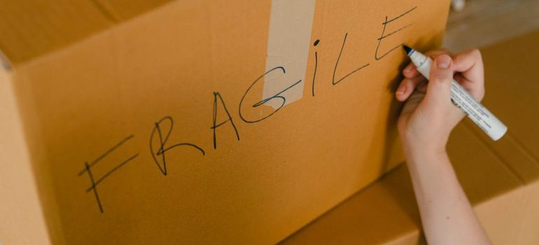 Make sure to pack items in separete boxes.