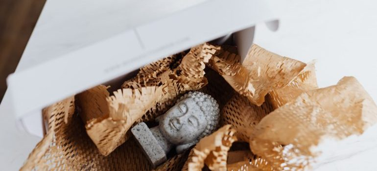 Granite Buddha in a box